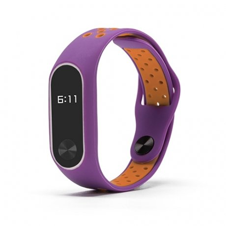 Xiaomi Mi Band 2 Silicone Sport náramok, Orange/Purple STRXI0195